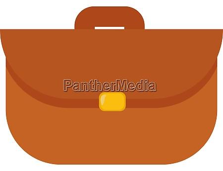 brown bag illustration vector on white