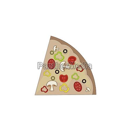 pizza slice vector or color illustration