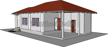 nice house illustration vector on white