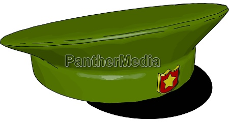 military hat illustration vector on white