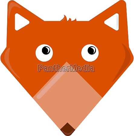 orange fox illustration vector on white