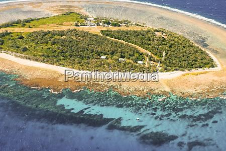 widok z lotu ptaka na wyspe
