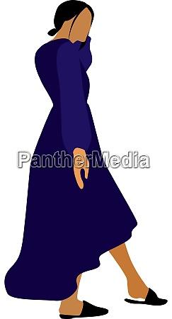 girl in purple dress illustration vector