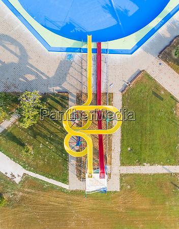 abstrakcyjny widok z lotu ptaka zjezdzalni