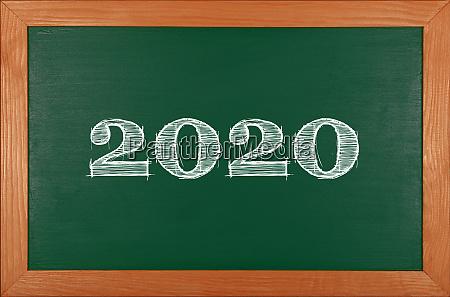 zielona, szkoła, tablica, z, 2020, chack - 27628943