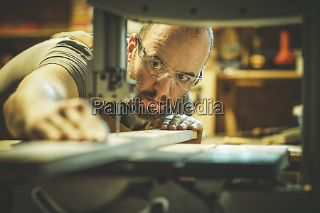detail of a carpenter at work