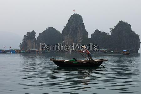 scene from halong bay vietnam