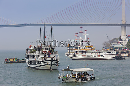 vietnam halong city halong bridge and