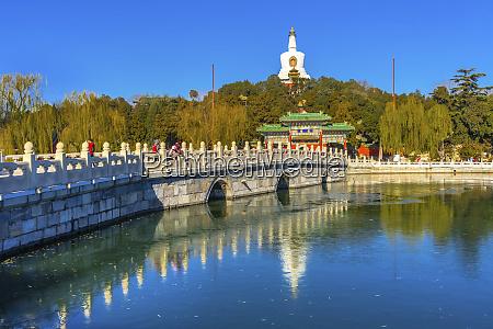 yongan bridge white stupa dagoba gate