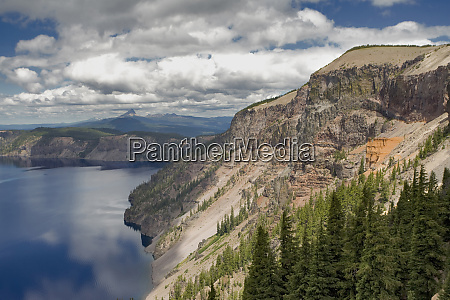 usa oregon crater lake np pumice