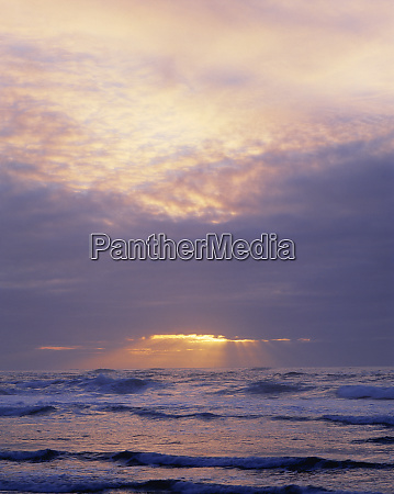 usa oregon heceta head sunsets golden