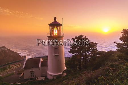 heceta, head, lighthouse, diabelski, łokieć, state, park, oregon - 27707548
