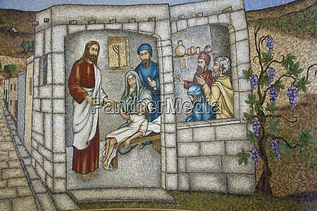 artwork of jesus restoring child back