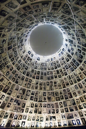conical hall of names with photos