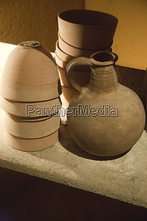 replicas of ancient essene pottery at
