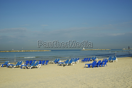 israel tel aviv beach along the