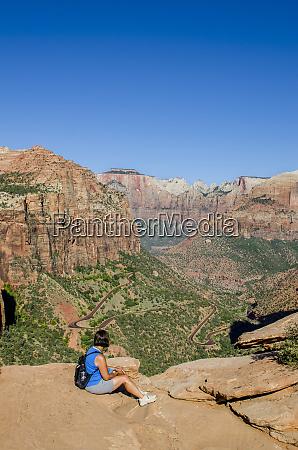 canyon overlook zion national park utah