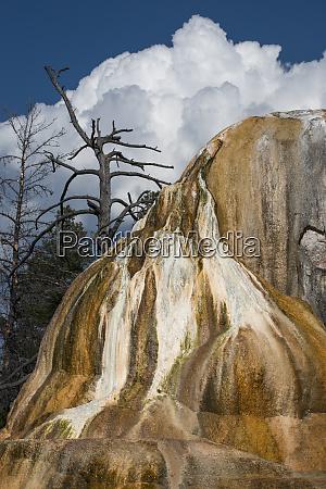 usa wyoming orange mound springs mammoth