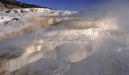 usa wyoming yellowstone np mist from