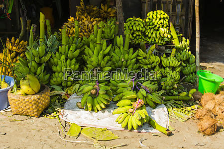 myanmar mandalay bunches of bananas for