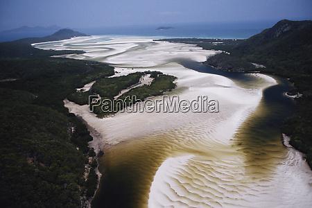 australia whitsunday island aerial view of