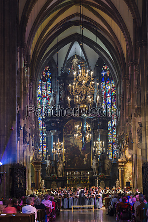 choir singing st stephens cathedral vienna