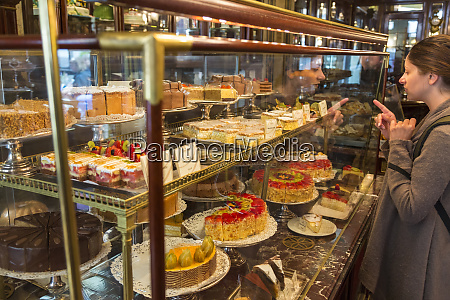 selecting a cake demel cake shop