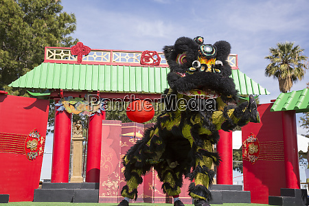 usa arizona phoenix traditional lion dance