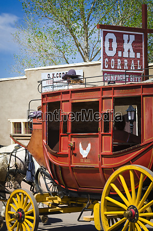 horse drawn stagecoach at the ok