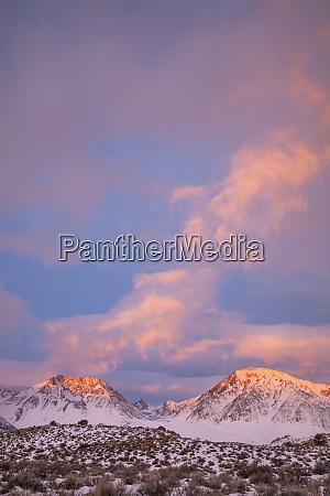 usa california sierra nevada range sunrise