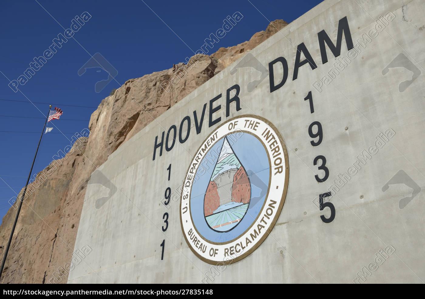 stany, zjednoczone, nevada, hoover, dam, departament, wnętrz, usa - 27835148