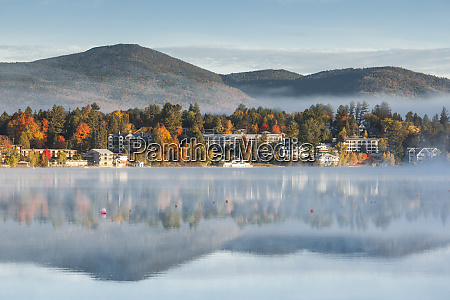 usa new york adirondack mountains lake