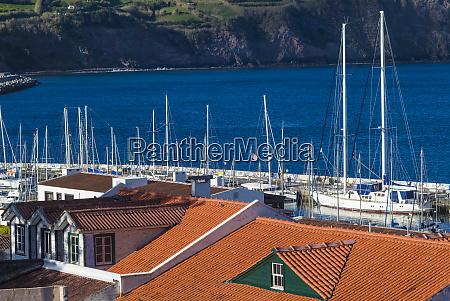 portugalia, azory, faial, island, horta., waterfront - 27875441