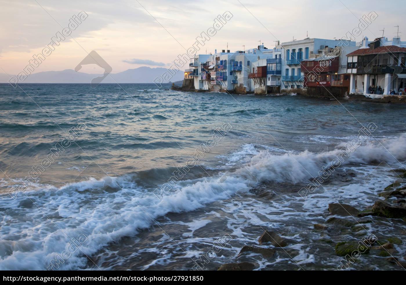 grecja, mykonos., mała, wenecja - 27921850