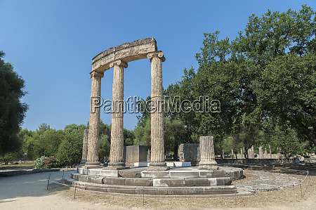 tholos ancient greek ruins olympia greece