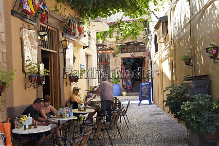 cafe taverna rhodes town rhodes dodecanese