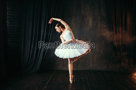 wdzieku baleriny taniec na scenie teatralnej