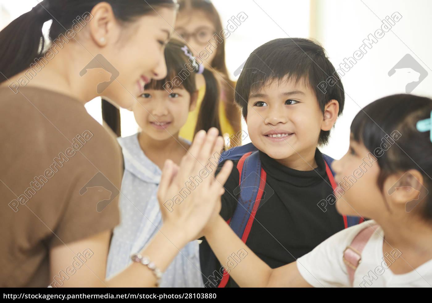 Życie, szkolne, dla, dzieci, w, wieku - 28103880