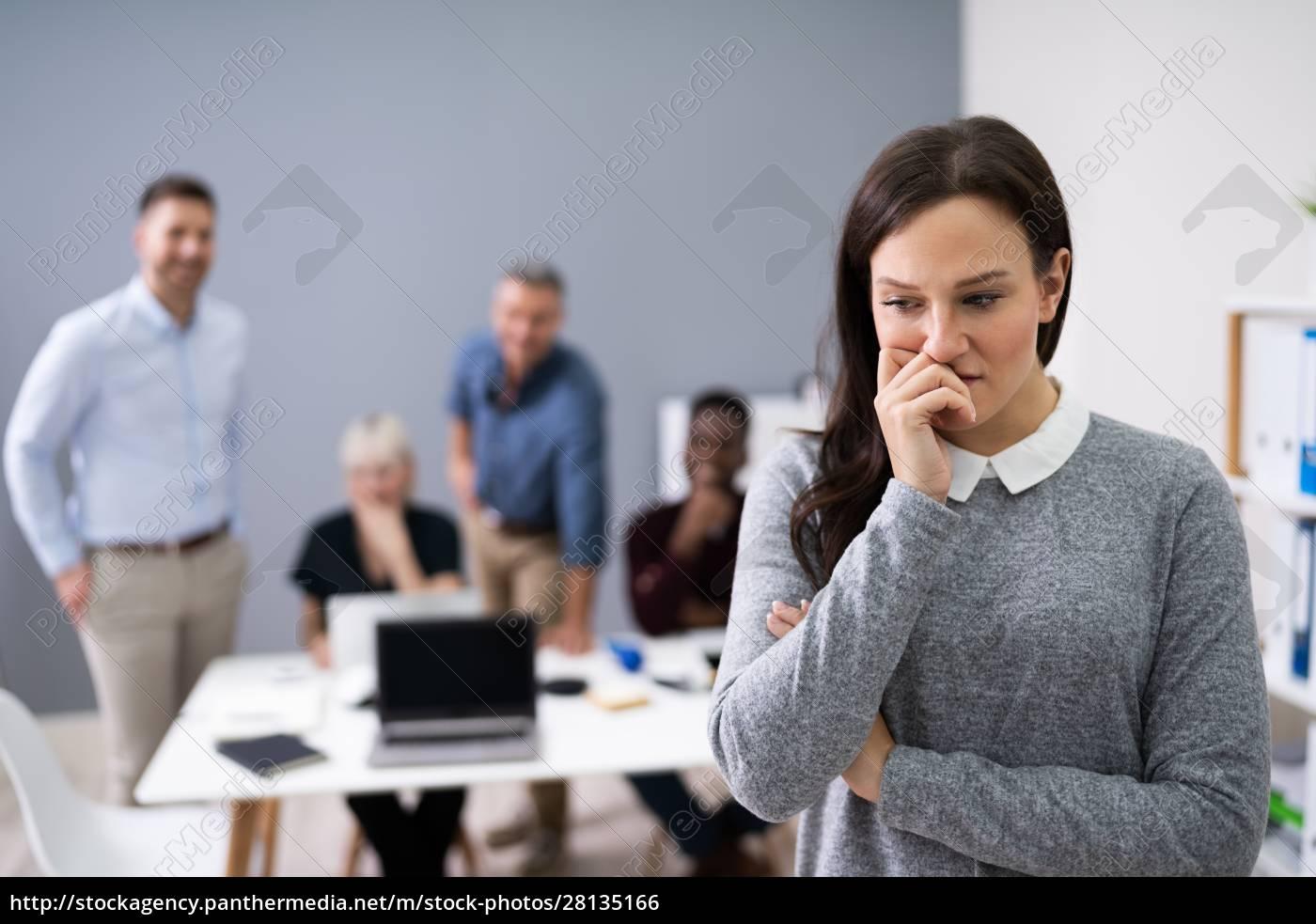 portret, nieszczęśliwej, bizneswoman - 28135166