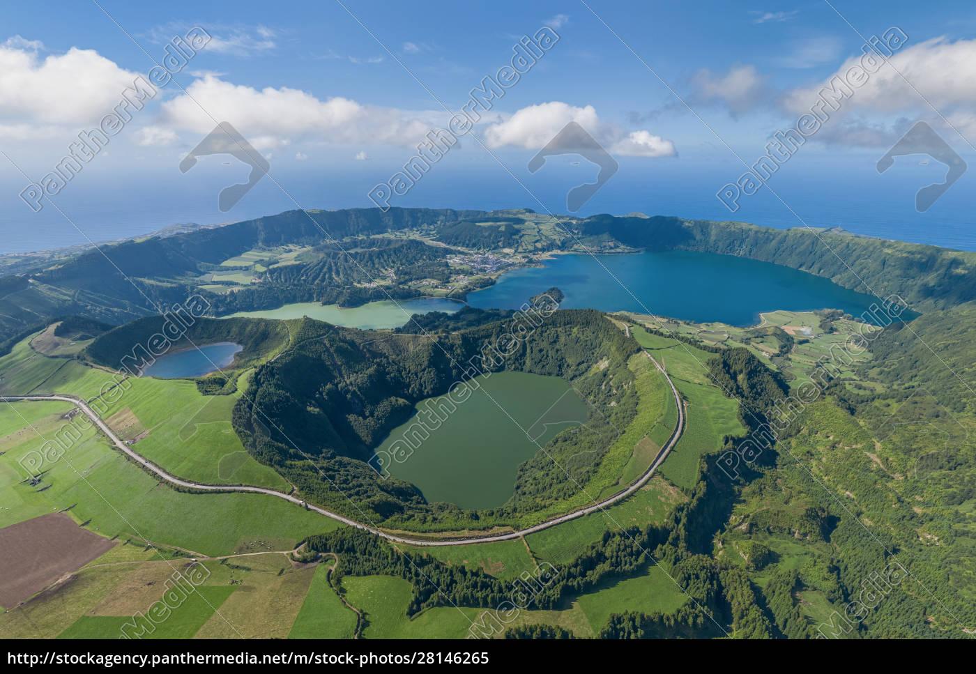 widok, z, lotu, ptaka, na, azory, wyspa - 28146265