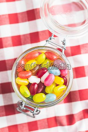 owocowe jellybeans smaczne kolorowe zelki