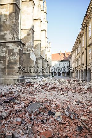 zagrzeb, dotknięty, trzęsieniem, ziemi, uszkodził, katedrę - 28229189
