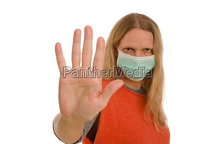 kobieta z ochrona jamy ustnej i