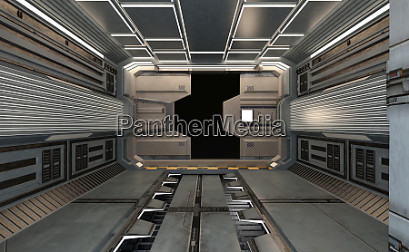 renderowanie 3d statek kosmiczny wewnatrz