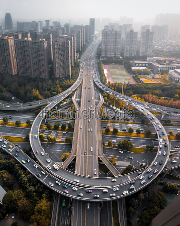 aerial, view, of, a, flyover, in - 28381755