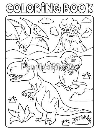 kolorowanka dinozaur temat obrazu 9