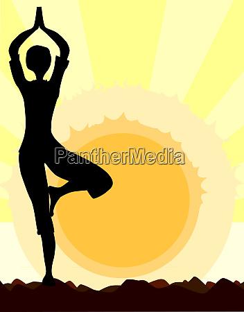 joga drzewo pose
