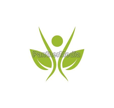 ludzie zdrowego zycia medycznego logo szablon