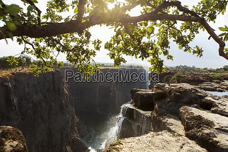 wodospad wiktorii od strony zambii widok