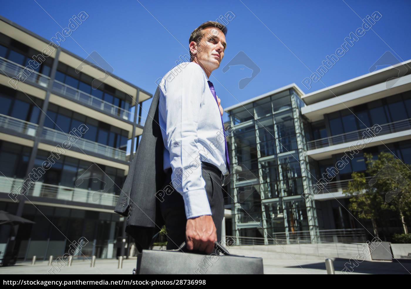businessman, outside, building - 28736998